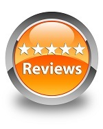 Reviews Glossy Orange Round Button