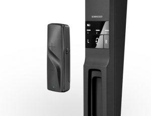 Close up of Sennheiser Flex 5000 controls